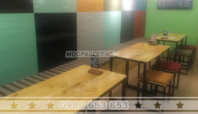 Bộ bàn ghế quán cafe Moon 4