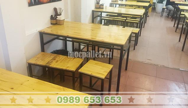bàn ghế chân sắt hà nội
