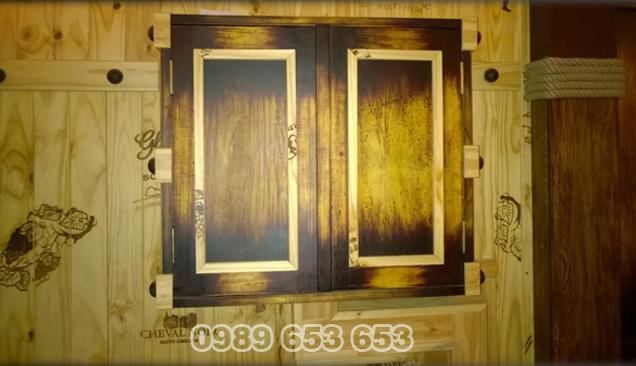 ốp tường gỗ thông pallet 06