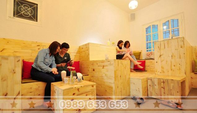 Bàn ghế quán cafe Pallet MP01