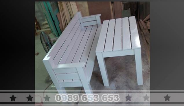 Bàn ghế gỗ thông Pallet B2