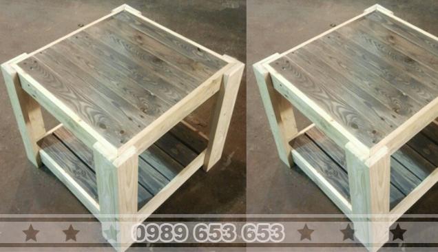 Bàn gỗ thông pallet B39