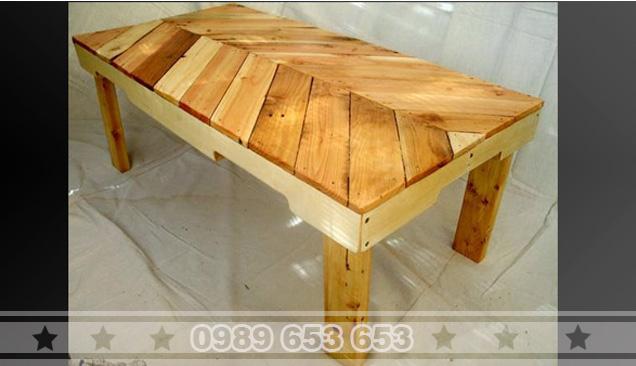 Bàn gỗ thông Pallet B10