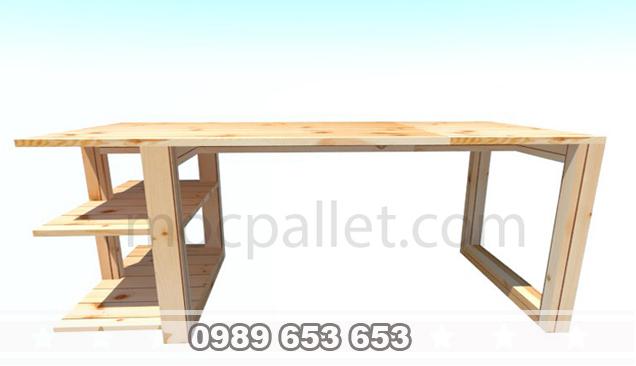 Bàn làm việc gỗ thông B33