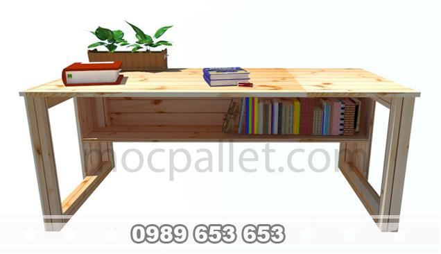 Bàn làm việc gỗ thông B34