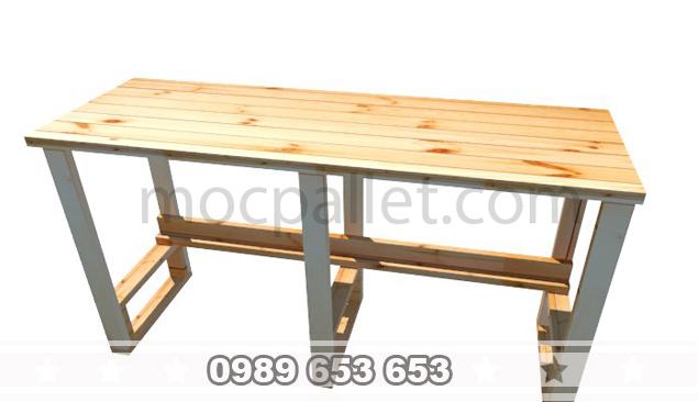 Bàn làm việc gỗ thông B35