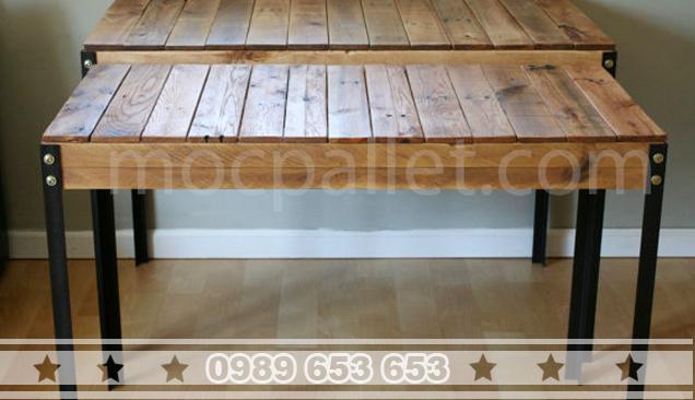 Bàn mặt gỗ chân sắt BGS6