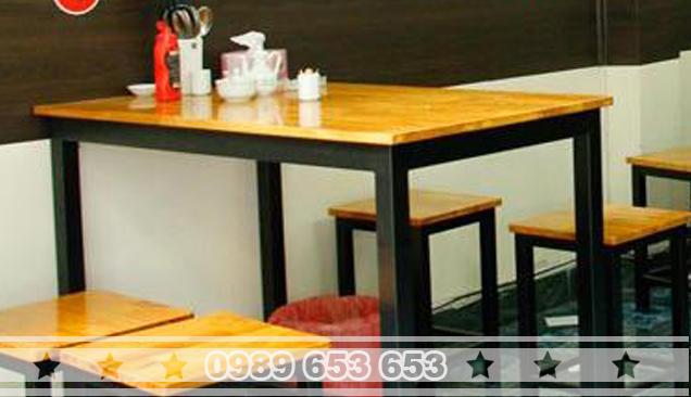 Ghế chân sắt gỗ thông Pallet GCS15