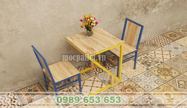 Bộ bàn ghế chân sắt BGS117