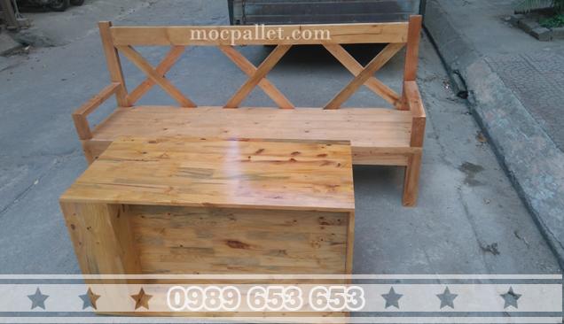 Bộ bàn ghế gỗ thông 81