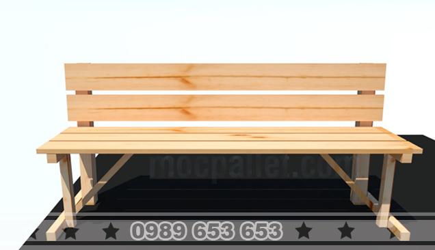 Ghế băng gỗ thông pallet G18