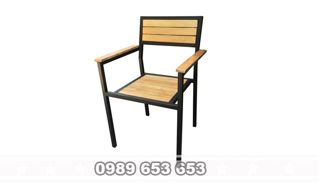 Ghế chân sắt gỗ thông Pallet GCS01