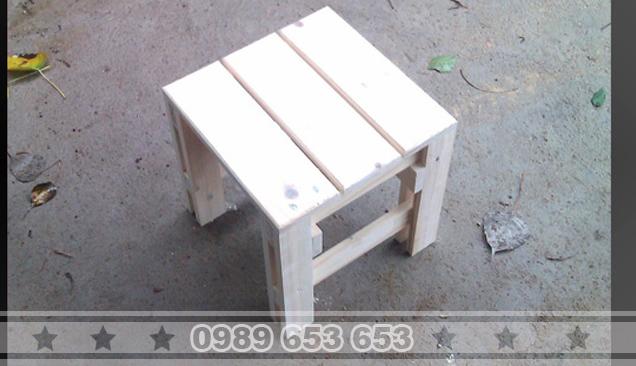 Ghế đôn gỗ thông pallet G6