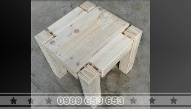 Ghế đôn gỗ thông pallet GD5