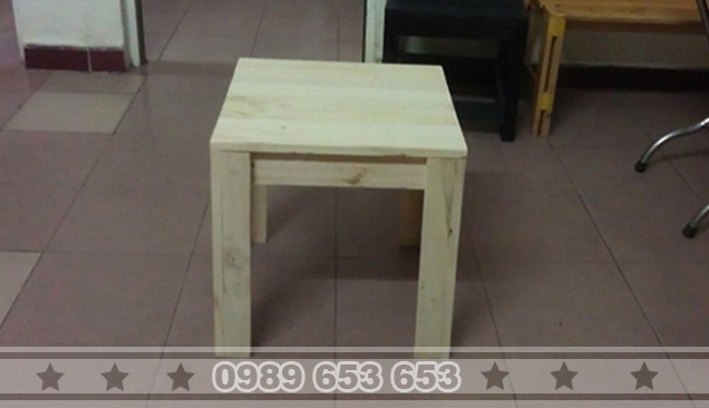 Ghế đôn gỗ thông pallet GD4