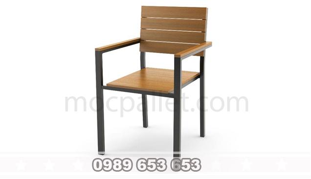 Ghế gỗ chân sắt GGS2