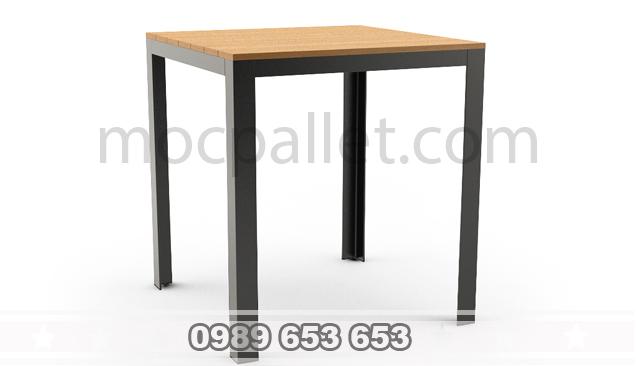 Ghế gỗ thông chân sắt GGS5