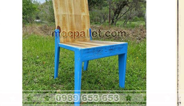 Ghế lưng tựa gỗ thông pallet G13