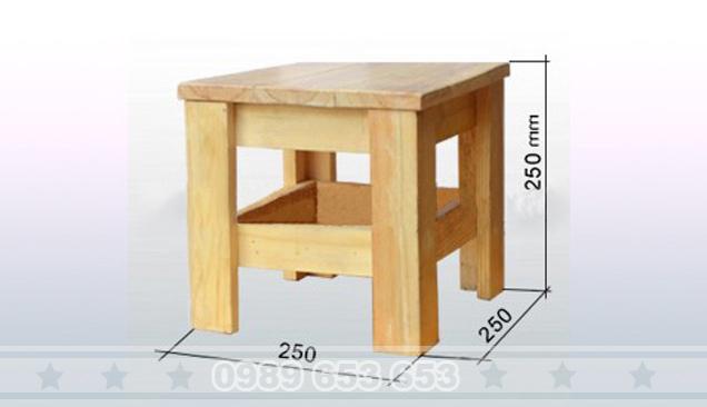 Ghế đôn gỗ thông Pallet GD8