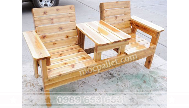 Ghế sofa gỗ thông pallet GS8