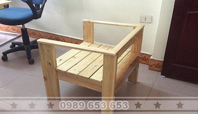 Ghế sofa gỗ thông pallet GS9