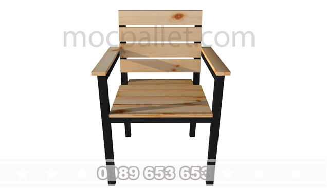 Ghế lưng tựa gỗ thông pallet G14
