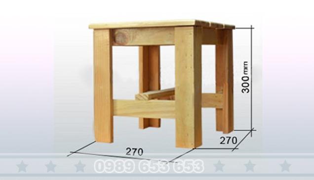 Ghế đôn gỗ thông Pallet GD7