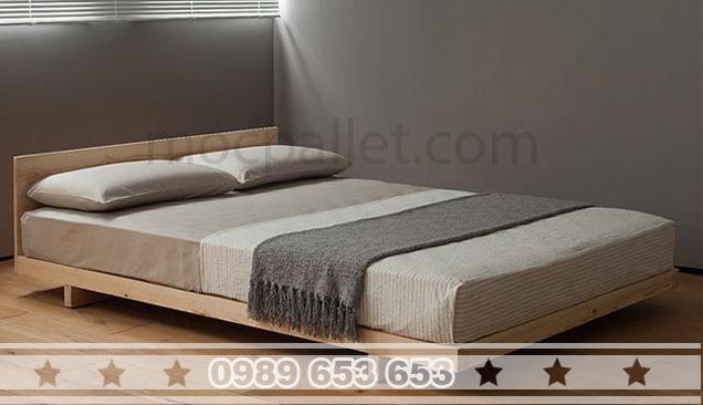 Giường ngủ gỗ thông pallet GN01