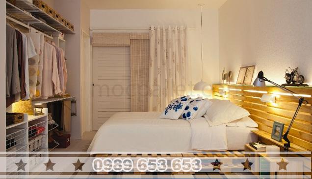Giường ngủ gỗ thông pallet GN03