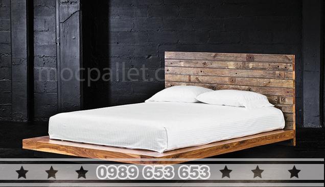 Giường ngủ gỗ thông pallet GN07