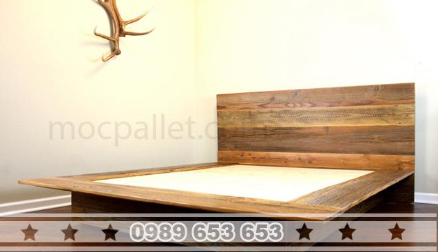 Giường ngủ gỗ thông pallet GN06