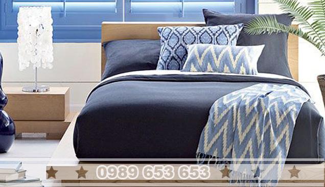 Giường ngủ gỗ thông pallet GN02