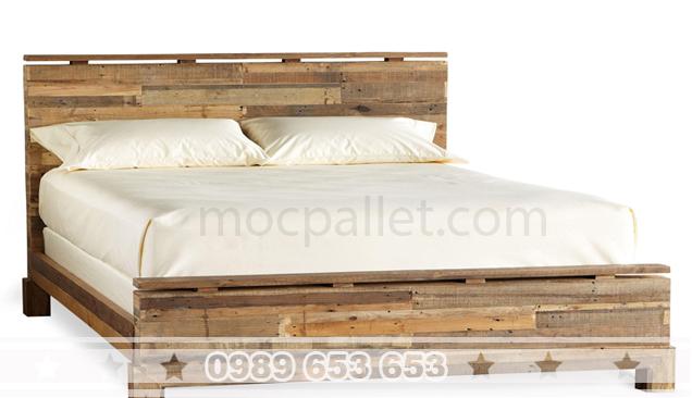 Giường ngủ gỗ thông pallet GN13
