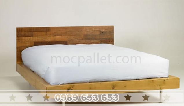 Giường ngủ gỗ thông pallet GN17