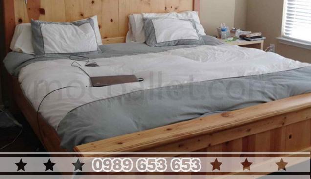 Giường ngủ gỗ thông pallet GN18
