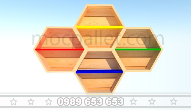 Kệ đựng đồ gỗ thông GK8