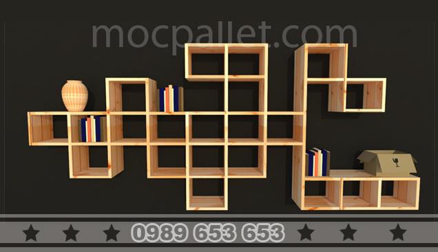 Kệ, Giá gỗ thông để đồ trang trí KG12