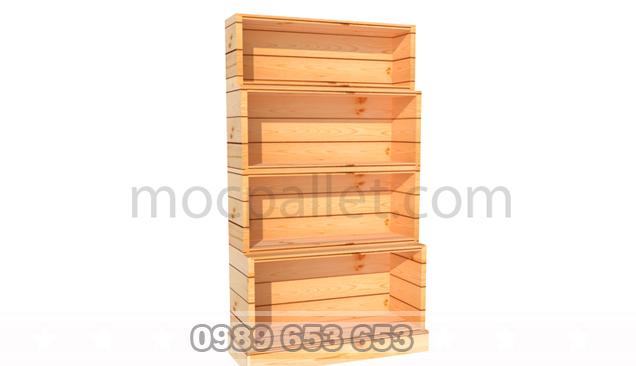 Kệ, Giá gỗ thông để đồ trang trí KG18