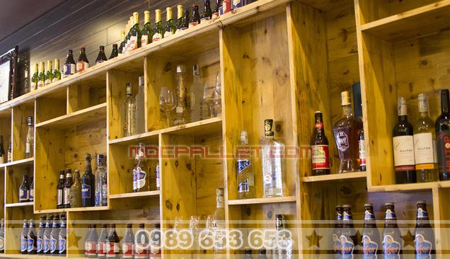 Kệ giá gỗ thông để đồ trang trí KG19