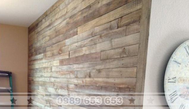 ốp tường gỗ pallet 10