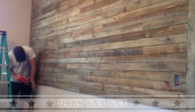ốp tường gỗ thông pallet 11