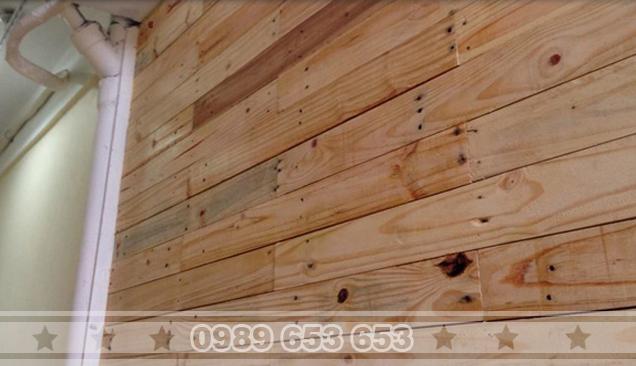 ốp tường gỗ thông pallet 08