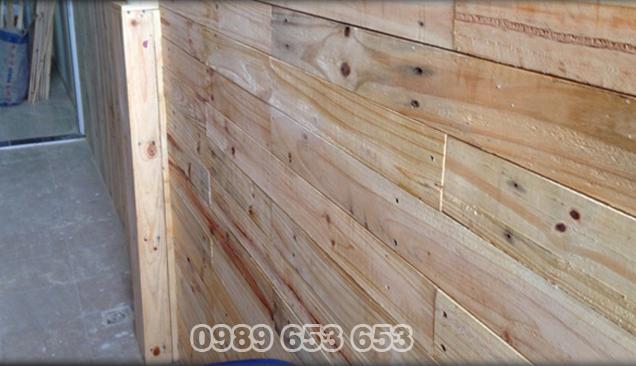 Ốp tường gỗ thông pallet 04