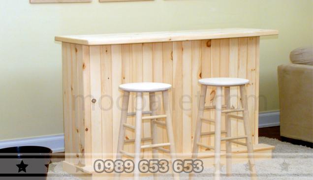 Quầy bar gỗ thông 14