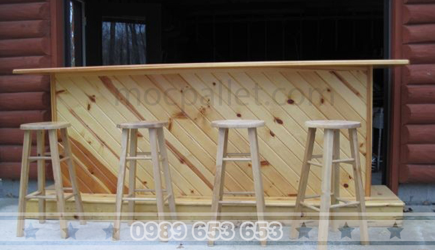 Quầy bar gỗ thông 15