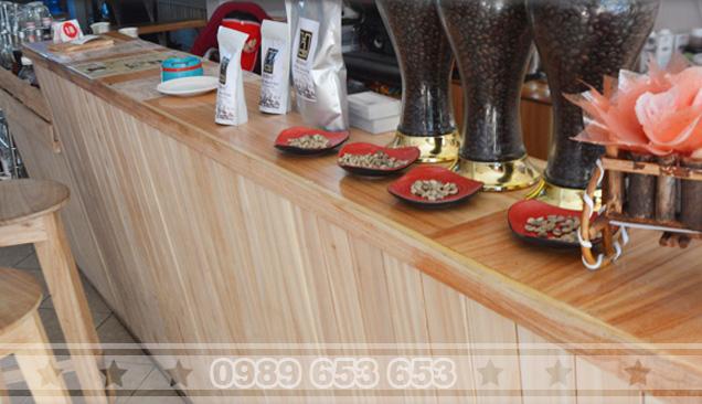 Quầy bar gỗ thông pallet 01