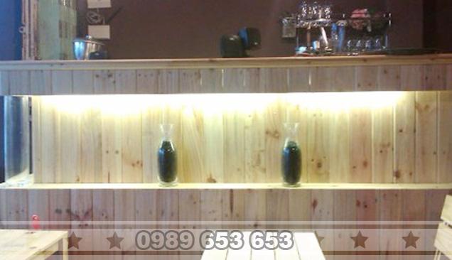Quầy bar gỗ thông pallet giá rẻ 05