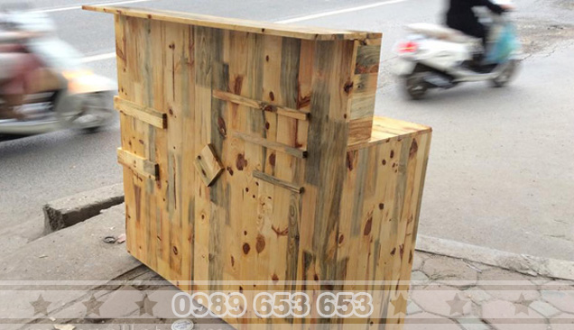 Quầy bar gỗ thông Pallet 10