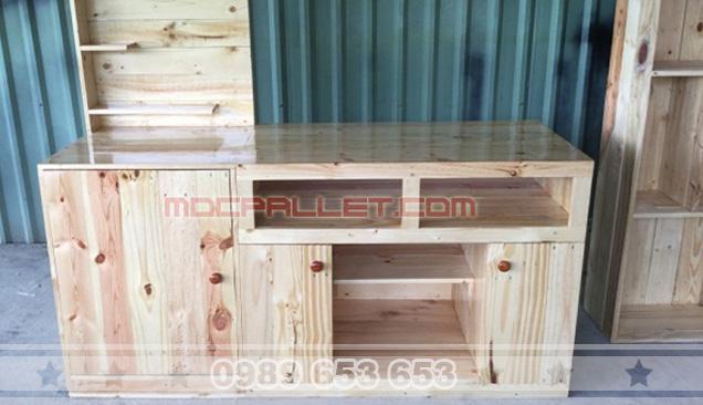 Quầy bar gỗ thông Pallet 23