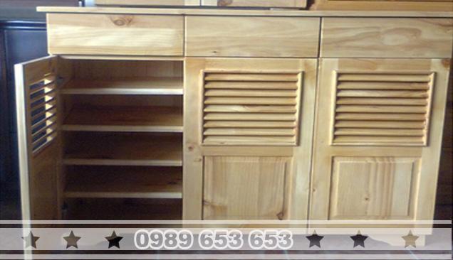 Tủ gỗ thông pallet T6